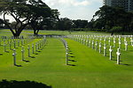 Crosses Mark 17,000 American and Filipino Dead at the American Cemetery in Manila