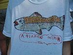 Student-made Atlantic salmon T-shirts