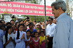 Secretary Kerry Greets Students in Mekong Delta Village