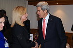 Secretary Kerry Speaks With Arianna Huffington in Davos