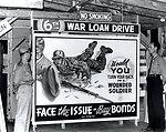 Sign Billboard War Bonds Oak Ridge