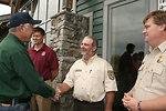 USFWS employees greet Secretary Salazar