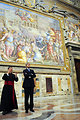 Secretary Kerry Views Artwork During a Tour of the Vatican