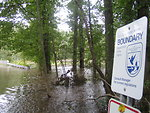 Flooded road at Great Swamp