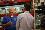USFWS Dave Tilton discusses sea lamprey control with media
