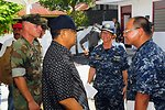 The Vice Wkil Walikota of Ternate, Drs. Amas Dinsie, Speaks With PP 2010 Commander Capt Franchetti