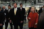 GM Uzbekistan General Director Spendel Gives Secretary Clinton a Tour of the GM Factory