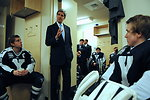 Secretary Kerry Addresses Yale Hockey Team Before Game Against Harvard