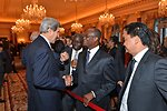 Secretary Kerry Chats With Guests