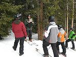 Valentine loveland ski area ski with a ranger