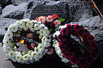 Wreaths Adorn the Memorial at Yitzhak Rabin's Assassination Site