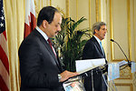 Secretary Kerry Delivers Remarks With Foreign Minister Khalid bin Mohammad al-Attiyah of Qatar