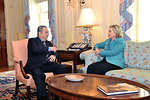 Secretary Clinton Holds a Bilateral With Israeli Defense Minister Barak