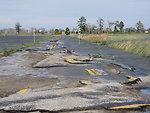Damaged road at Prime Hook