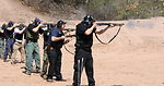 Agents Firing Shotguns