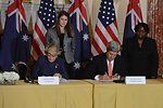 Secretary Kerry and Australian Foreign Minister Bishop Sign a Statement of Principles