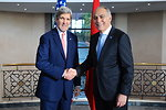 Moroccan Foreign Minister Greets Secretary Kerry Before Strategic Dialogue in Rabat