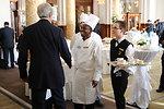 Secretary Kerry Greets Staff at Hotel Hosting Geneva II Conference