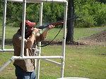 Chuck Traxler takes aim. Service photo.