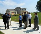 Mayor of Gaithersburg and City Council members Tour NZERTF