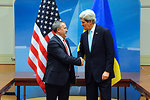 Secretary Kerry Meets With Acting Ukraine Foreign Minister Deshchytsia at NATO Session in Brussels