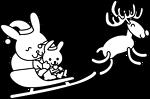 Santa Bunny Coloring Page