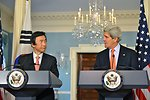 Secretary Kerry and Korean Foreign Minister Yun Byung-se Address Reporters