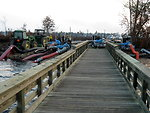 Boardwalk to pumps