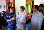 PP2010 Commander, Capt. Franchetti, Speaks With Ambassador Rodley and a Cambodian Government Official