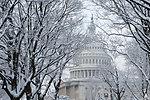 U.S. Capitol Dome in Snow