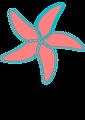very simple starfish