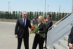 Secretary Clinton Is Greeted By Azerbaijani Foreign Minister Mammadyarov