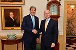 Secretary Kerry and U.K. Foreign Secretary Hague Pose for a Photo