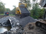 Little Sucker Brook: Construction of stream crossing