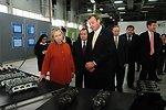 GM Uzbekistan General Director Spendel Discusses Powertrain Components With Secretary Clinton and Uzbek Deputy Prime Minister Rozukulov