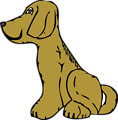 dog side view