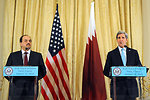 Secretary Kerry Holds a News Conference with Qatari Foreign Minister al-Attiyah
