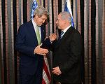 Secretary Kerry and Israeli Prime Minister Netanyahu Before Their Dinner
