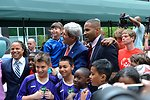 Secretary Kerry With Young Athletes and Sports Envoys Scurry, Jones and Sanneh
