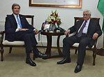 Secretary Kerry Meets With President Abbas in Ramallah