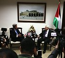 Secretary Kerry Meets With President Abbas in Ramallah