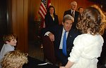 Secretary Kerry Meets With U.S. Mission Turkey Staff and Families