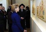 Secretary Clinton Visits Holocaust Art Museum