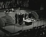 U.S. Secretary of State Dean Acheson signing the Treaty of Peace with Japan, September 8, 1951