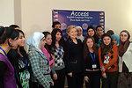 Secretary Clinton Attends Amideast Event