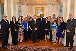 Secretary Kerry With Ambassador Broas and His Family, and Ambassador Bekink