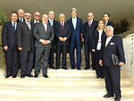Secretary Kerry and Jordanian Officials Pose for a Group Photo