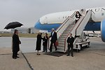 Secretary Kerry is Greeted Upon Arrival in London