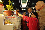 US Ambassador Mr. Richard G. Olson visiting the stall of Medicinal and Aromatic Plants Value Chain of USAID's Entrepreneurs Project