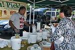 Pickle Vendor at the USDA Farmers Market